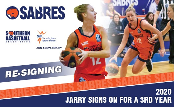 JARRY RETURNS TO SABREDOME FOR THIRD YEAR
