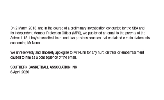 SBA Announcement